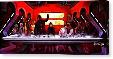 Star Wars Last Supper - Da Canvas Print by Leonardo Digenio