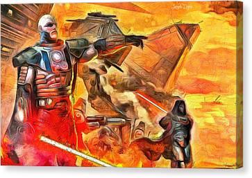 Star Wars Lord Of War - Da Canvas Print by Leonardo Digenio