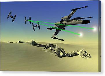 Star Wars Canvas Print by Michael Greenaway