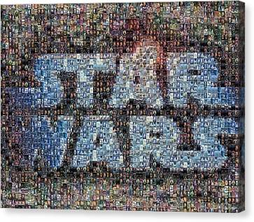 Star Wars Posters Mosaic Canvas Print by Paul Van Scott