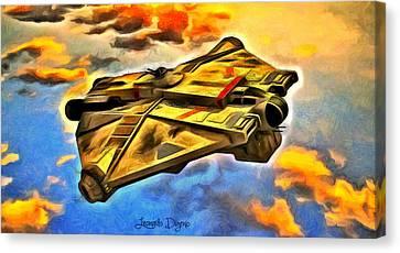 Star Wars Rebels Ghost - Da Canvas Print by Leonardo Digenio