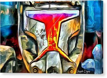 Star Wars Stormtrooper Fighter - Da Canvas Print by Leonardo Digenio