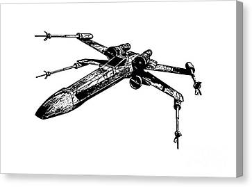 Star Wars T-65 X-wing Starfighter Tee Canvas Print by Emf
