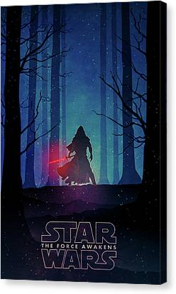 Star Wars - The Force Awakens Canvas Print by Farhad Tamim
