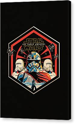 Star Wars - The Force Awakens Canvas Print by Fht