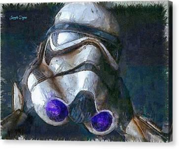 Star Wars Troop - Da Canvas Print by Leonardo Digenio