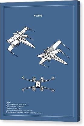 Star Wars - X-wing Patent Canvas Print by Mark Rogan