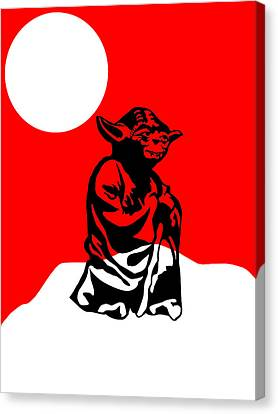 Star Wars Yoda Collection Canvas Print by Marvin Blaine