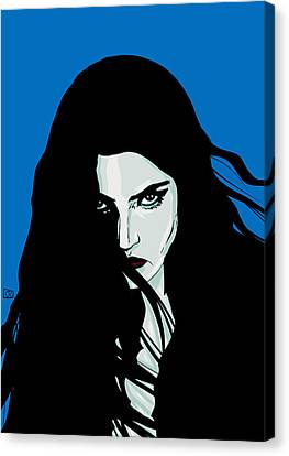 Staring In Anger Canvas Print by Giuseppe Cristiano
