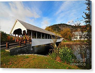 Stark Covered Bridge  Canvas Print by Catherine Reusch  Daley