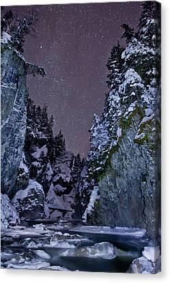 Starry Creek Canvas Print by Brandon Broderick