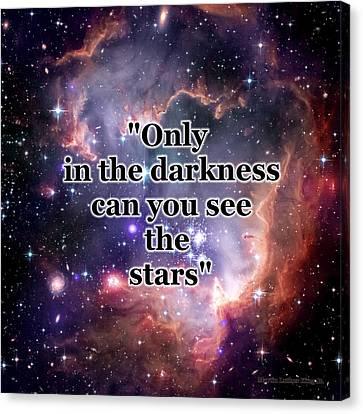 Stars In The Darkness Canvas Print by Anastasiya Malakhova