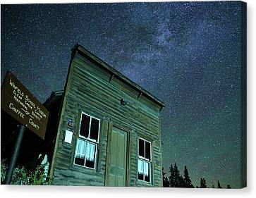 Stars Over Winfield Ghost Town Canvas Print by Daniel Lowe