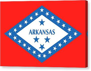 State Flag Of Arkansas Canvas Print by American School