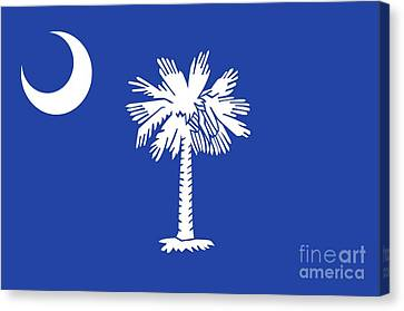 State Flag Of South Carolina Canvas Print by American School