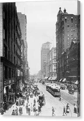 State Street - Chicago 1900 Canvas Print by Daniel Hagerman