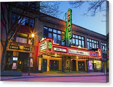 State Theatre - Ithaca Ny Canvas Print by Stephen Stookey