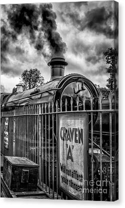 Station Sign Canvas Print by Adrian Evans