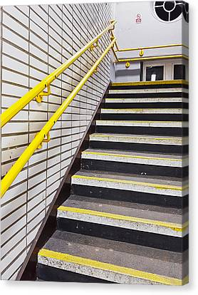 Station Stairs Canvas Print by Tom Gowanlock