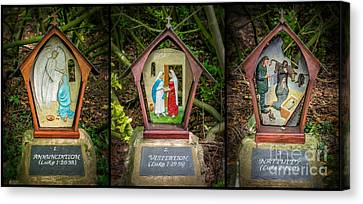 Stations Of The Cross 1 Canvas Print by Adrian Evans