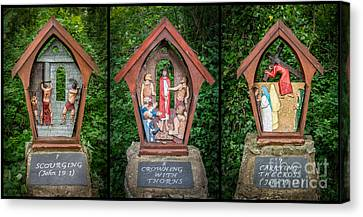 Stations Of The Cross 3 Canvas Print by Adrian Evans
