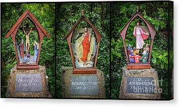 Stations Of The Cross 4 Canvas Print by Adrian Evans