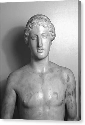 Statue Of Apollo Canvas Print by Roman School