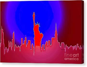 Statue Of Liberty Enlightening The World Canvas Print by Rafael Salazar