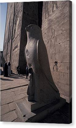 Statue Of The Bird God, Horus Canvas Print by Richard Nowitz