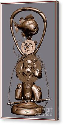 Statuette From Scrap Sfs Canvas Print by Pemaro