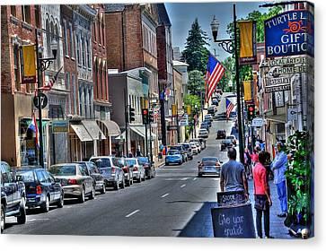 Staunton Down Town Canvas Print by Todd Hostetter