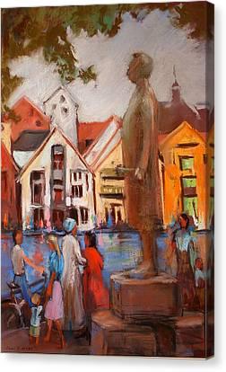 Stavanger Statue Canvas Print by Joan  Jones