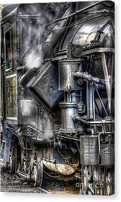 Steam Engine Detail Canvas Print by Jerry Fornarotto