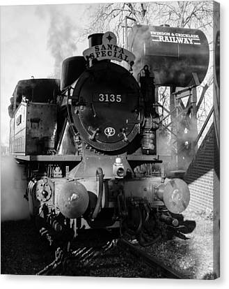 Steam Express Canvas Print by Steven Sexton