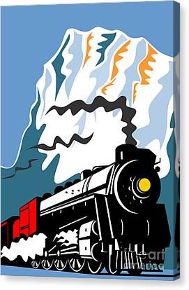 Steam Train Canvas Print by Aloysius Patrimonio