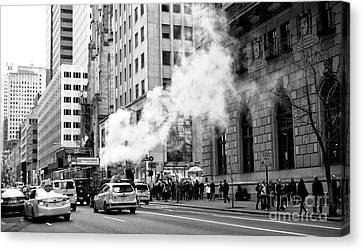 Steaming On 5th Avenue Canvas Print by John Rizzuto