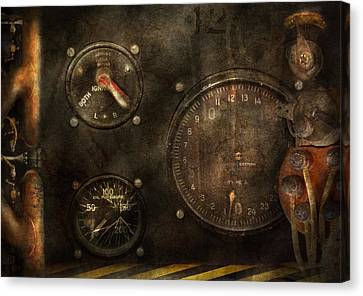 Steampunk - Check Your Pressure Canvas Print by Mike Savad