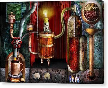 Steampunk - Coffee Break Canvas Print by Mike Savad