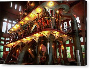 Steampunk - Allis Does All The Work Canvas Print by Mike Savad