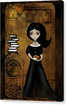 Steampunk Bibliophile Canvas Print by Charlene Zatloukal