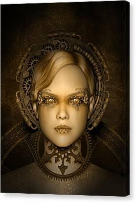 Steampunk Machine Canvas Print by Britta Glodde