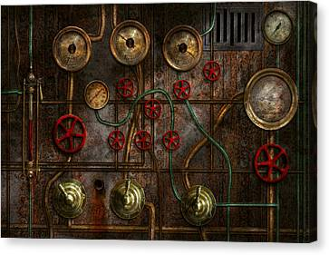 Steampunk - Plumbing - Job Jitters Canvas Print by Mike Savad
