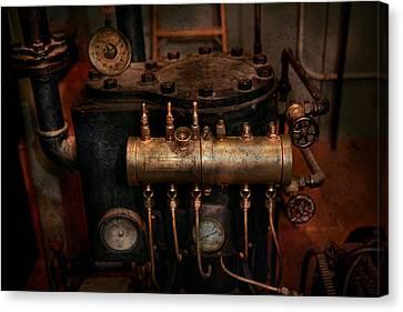 Steampunk - Plumbing - The Valve Matrix Canvas Print by Mike Savad