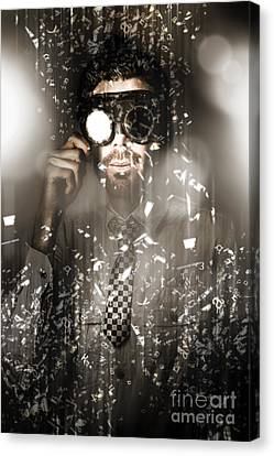 Steampunk Scientist Breaking The Atom Canvas Print by Jorgo Photography - Wall Art Gallery