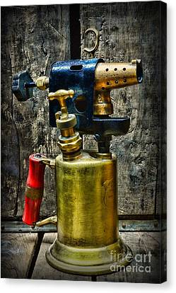Steampunk Tool Of Fire Canvas Print by Paul Ward