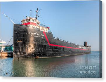 Steamship William G. Mather I Canvas Print by Clarence Holmes