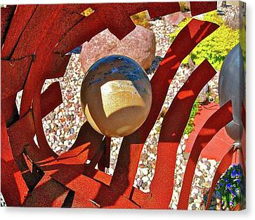 Steel And Shadows Canvas Print by Randy Rosenberger