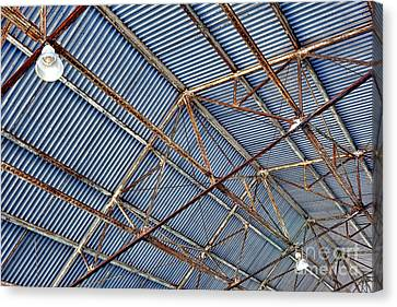 Steel Ceiling Canvas Print by Olivier Le Queinec