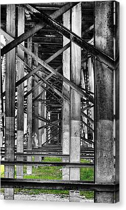 Steel Support Canvas Print by Rudy Umans