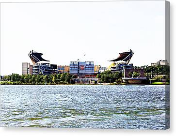 Steeler Central Canvas Print by Melinda Dominico